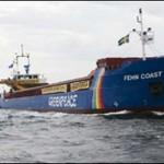 Greenpeace afunda blocos de granito na Suécia