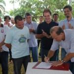 Vice-governador César Messias assinou o convênio que tem a contrapartida do Governo do Estado