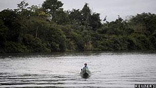 Rio da bacia amazônica